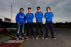 Maglia Azzurra Junior. Da sx Beltrami, Promutico, Gente, Monticelli